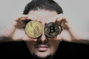 bitcoin and us dollar coins
